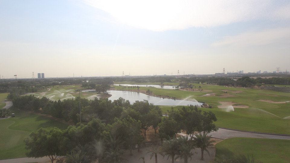 Day time views over the Championship course in Abu Dhabi
